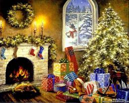 Christmas Living Paper Files Wallpapers For Desktop 1673