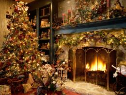 Indoor Christmas treewallpaper backgroundsdesktop wallpapers 1526