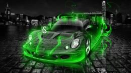 Lotus Elise GT1 Crystal Green Fire Car 2013 HD Wallpapers design by 260