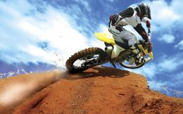Full View and Download crazy motocross bike Wallpaper with resolution 1184