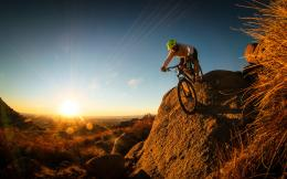 Crazy Cyclist With Mountain Bike On Hills 2013 Hd Desktop Wallpaper 851