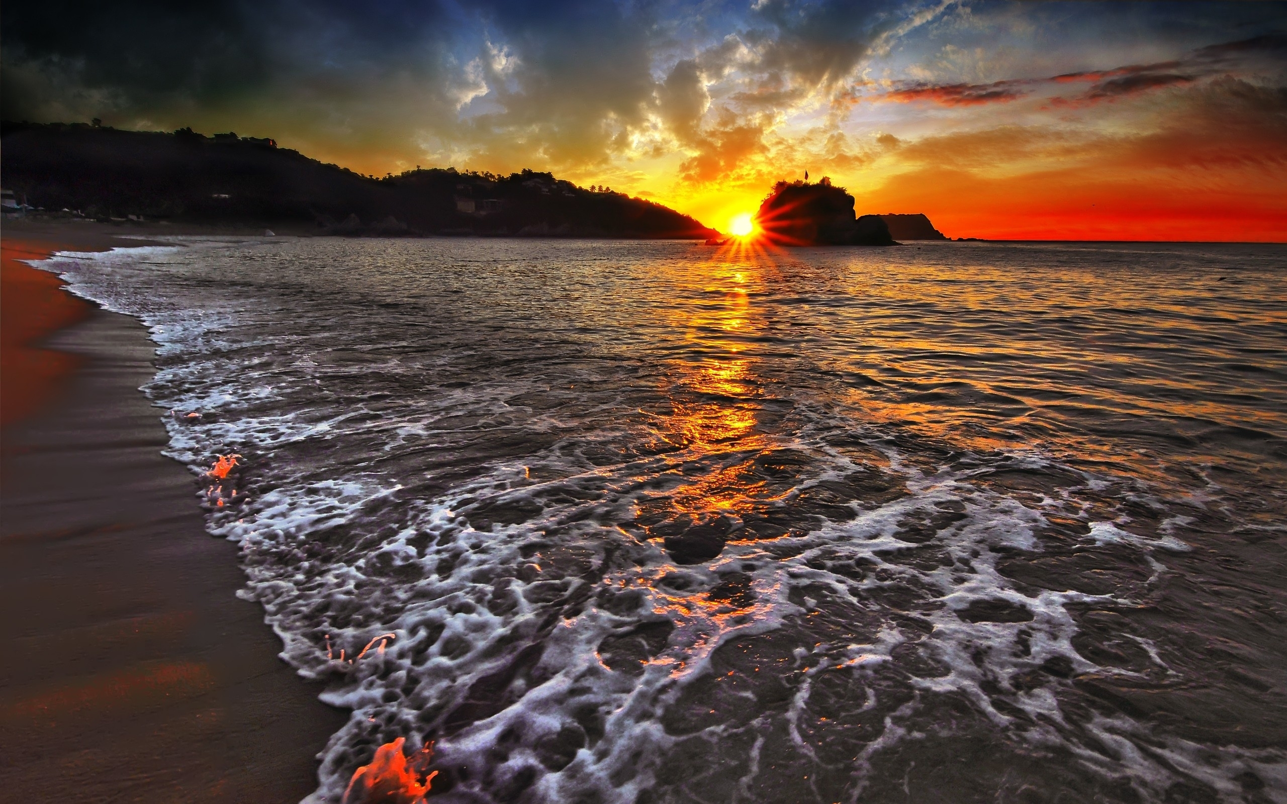 wallpaper sunset landscapes nature beach categories nature landscapes 1406