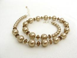 Mocha Latte Pearl Necklace Jewelry 1731