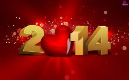 Happy New Year Greetings 2014 HD Wallpaper For Lovers with Wishes SMS 1653