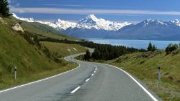 arnold southern alps south island new zealand road scenery hd nature 776