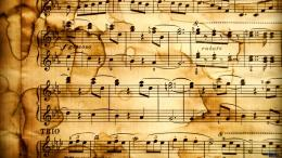 Download wallpaper An old music book: 391