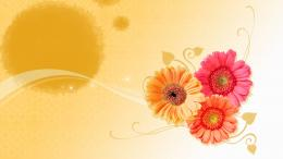 orange art flowers wallpaper wallpapers 1920x1080 mrwallpaper com 790