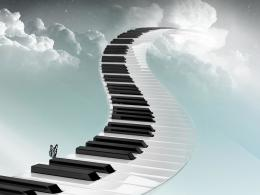 3D Piano StairsHD Wallpaper 1296