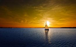 Sailboat lake sunset Wallpapers Pictures Photos Images 483