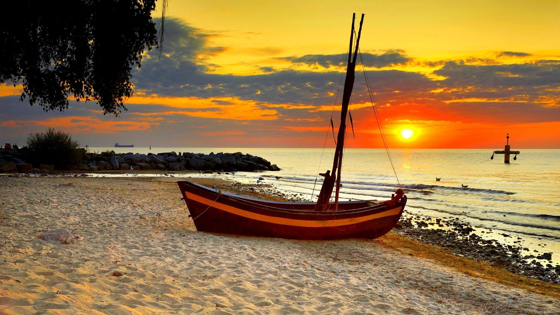 18 beach sunset sailboats hd wallpapers desktop widescreen ...