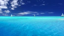 Yachts On Caribbean Sea, Blue Ocean Water 1920x1080 HD 870