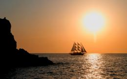 Sailboat evening sun hd Wallpapers Pictures Photos Images 1412