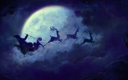Santa Claus Christmas Moon HD Wallpapers 890