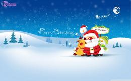 Chirstmas santa cartoon christmas greetings for kids hd wallpaper 1981