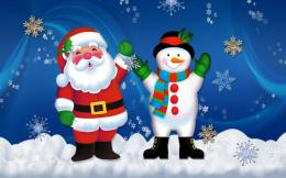 Top Christmas Santa Claus Snowman Hd Wallpaper 521