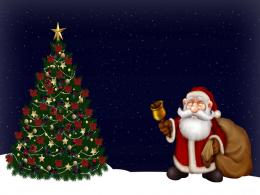 Free Merry Christmas Santa Claus HD Wallpapers for iPad 1346