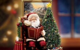 Santa Claus reading story for kids 1406