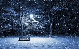 Snow Park Bench HD dekstop wallpapersSnow Park Bench 788