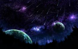 Space Meteor Shower Pure HD Wallpaper, Shower In Space HD Wallpaper 438