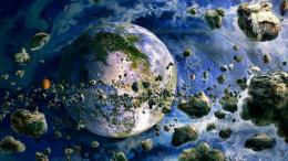 Meteor field space planet earth 394