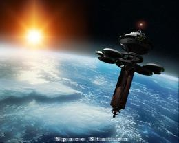 sun outer space stars cgi earth sci fi space station cg HD Wallpaper 1621