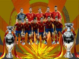 Euro 2012 Champion Spain football team wallpaper 320