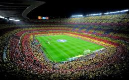 spain Camp Nou fc barcelona soccer stadium crowd wallpaper background 681