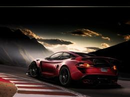 Cool Red Sports Racing Car HD Wallpaper 552