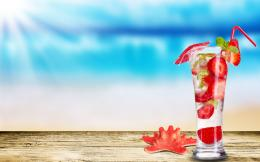 Strawberry Mojito HD Widescreen Desktop Wallpaper 1876