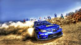 Blue Subaru Rally Car HD Wallpapers 1897