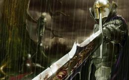 rain blood swords medieval warriors bloody sword HD Wallpaper of 967