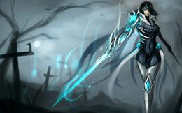 League of Legends Fiora Sword Free Desktop Wallpaper 1415