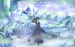 Sword Art Online Kirito Ice Blue Free Desktop Wallpaper 1118