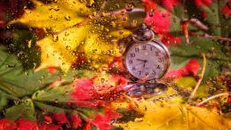 Autumn morning clock nice fall nature time HD Wallpaper 1234