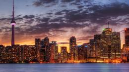 toronto cityscape at sunset wallpaper in city world wallpapers 1639