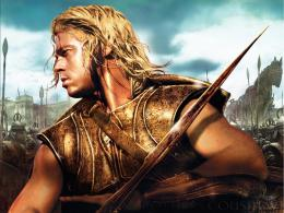 brad pitt in troy movie wallpaper 736