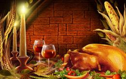 Download ThanksGiving Turkey Bird Wine Dishes HD WallpaperSearch 736