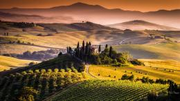 Tuscany Sunset Hd Desktop Background HD wallpapers 468