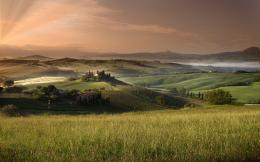 tuscany wallpaper, field, summer, sky 1579