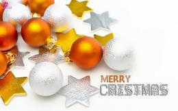 Greetings and Wishes Picture with Beautiful Christmas Balls Wide HD 1046