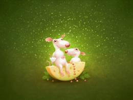 Desktop Wallpaper sVectorHappy Mice Vector Art 1699