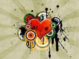 Vector Art Heart 558