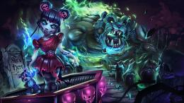 zombie annie skin splash league of legends hd wallpaper background lol 1325