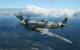 Spitfire Wallpaper, Supermarine, Spitfire, aircraft, plane, clouds 1896