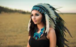 Native American Girl Wallpaper 1920x1200 314