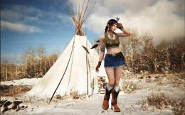 Pretty native american girl cgi fantasy HD Wallpaper 1161