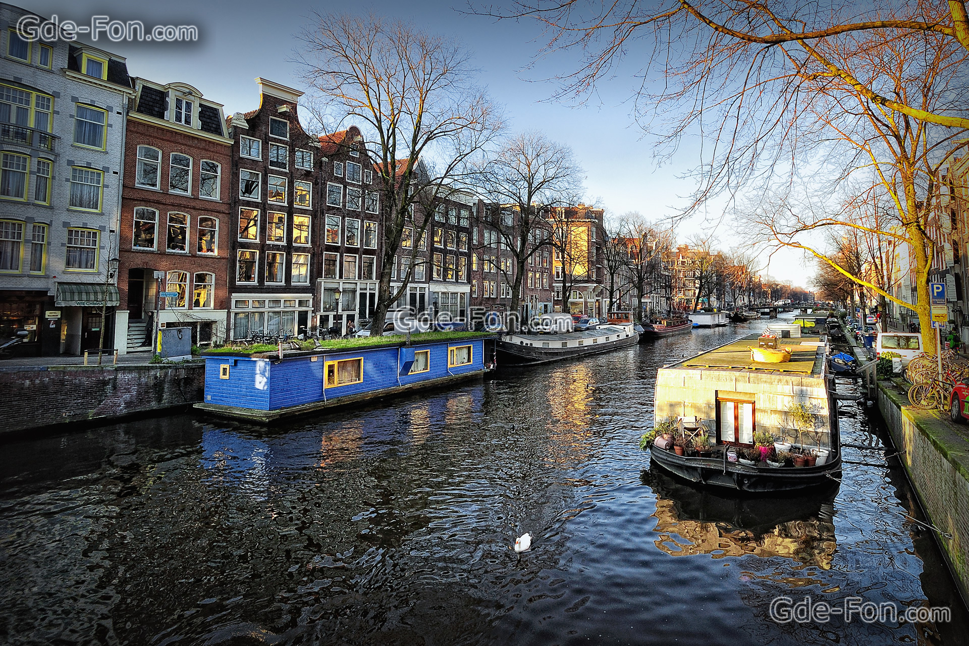 wallpaper Amsterdam, the capital of the Netherlands, city free desktop 473