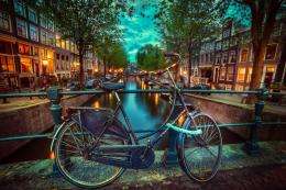 Amsterdam, nederland, city, amsterdam, the netherlands, biking, night 123