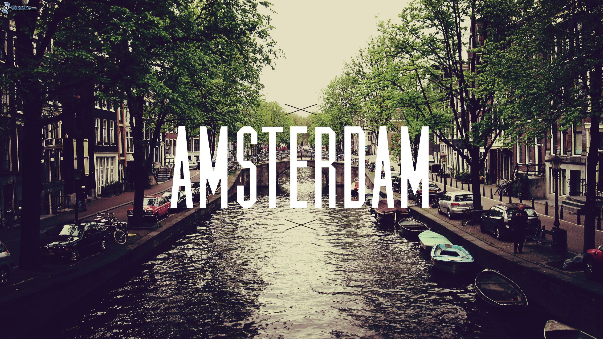 Streets of Amsterdam Wallpaper 1040