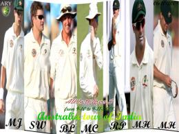 Australian Cricket Team Wallpaper: Australia Cricket Team 7 Player 581